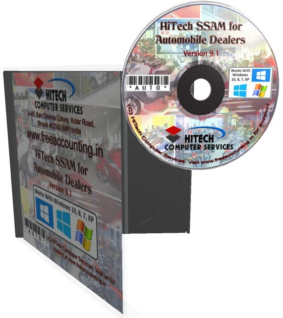 Automobile Dealers Accounting Software CD Case