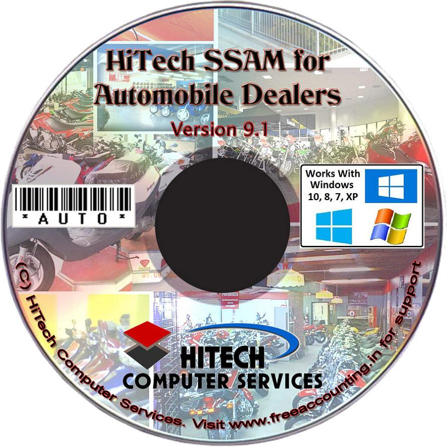 Automobile Dealers Accounting Software CD