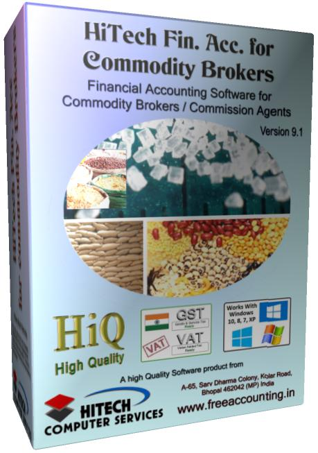 Business Management and Accounting Software for commodity brokers, commission agents. Modules : Parties, Transactions, Payroll, Accounts & Utilities. Free Trial Download.